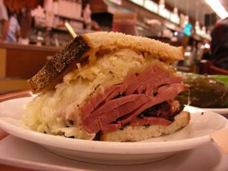 giant 1/2 of a reuben sandwich